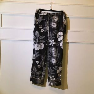 J Cew silk cropped pants size 6 NWOT